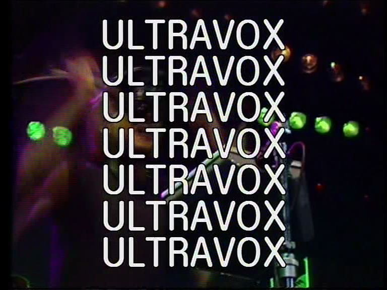 Ultravox - Concert Monument Tour- Live at Rockpop 1983