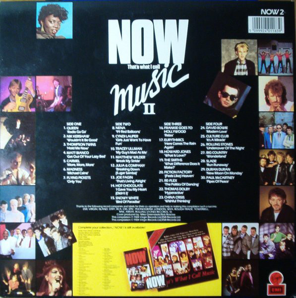 Now That's What I Call Music, Vol. 002 - 1984 - LP - Verso