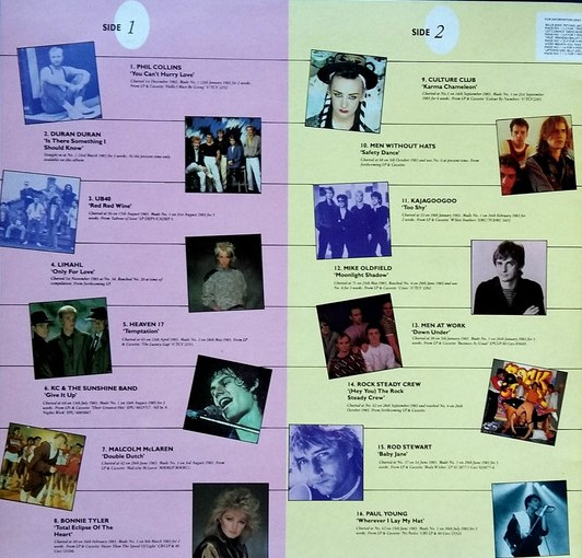Now That's What I Call Music, Vol. 001 - 1983 - LP - Verso 1-2