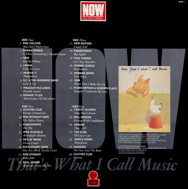 Now That's What I Call Music, Vol. 001 - 1983 - LP - Verso