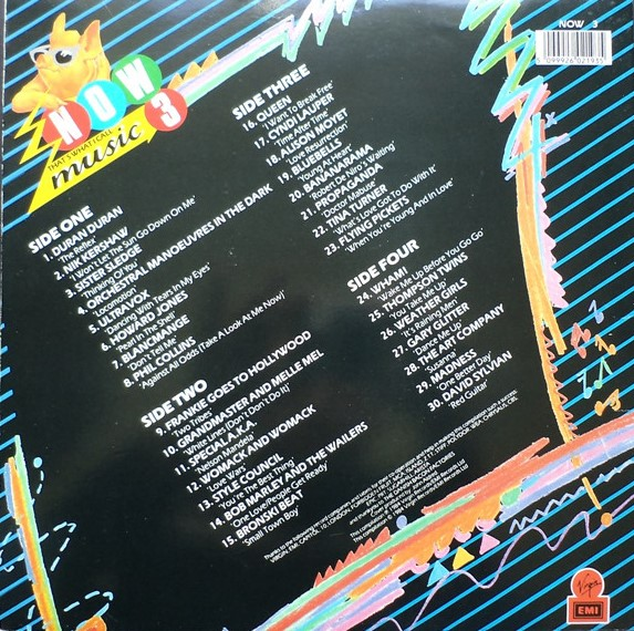 Now That's What I Call Music, Vol. 003 - 1984 - LP - Verso