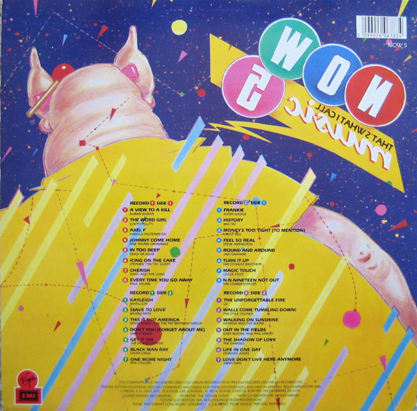 Now That's What I Call Music, Vol. 005 - 1985 - LP - Verso