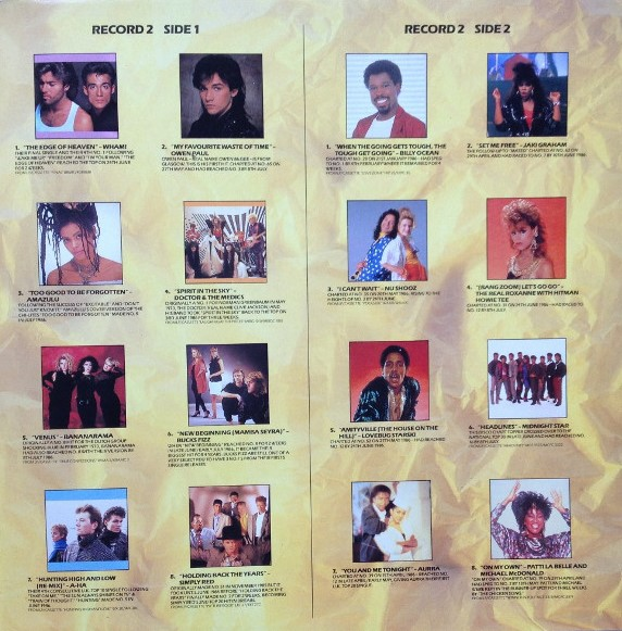 Now That's What I Call Music, Vol. 007 - 1986 - LP - Verso 2-2